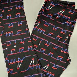 OS LULAROE Leggings Americana NWT